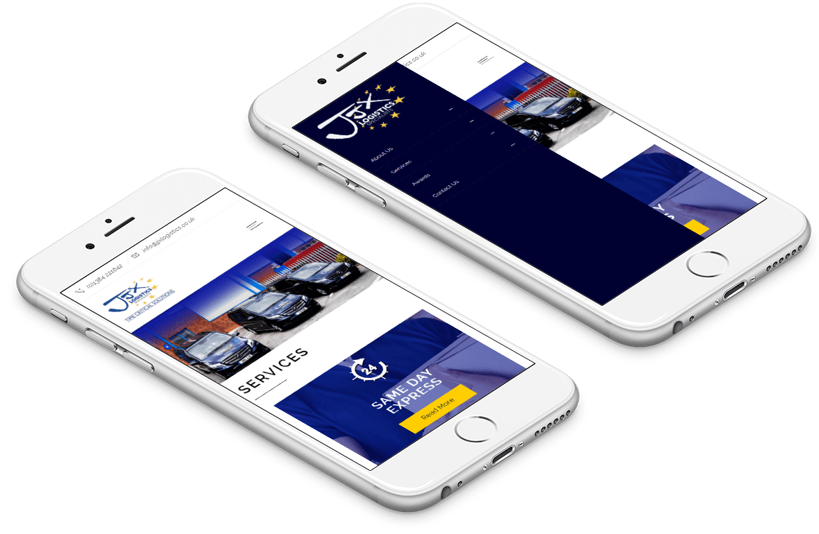 JJX Mobile Responsive Website
